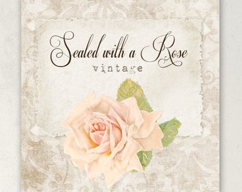 ETSY SHOP BANNERS Sealed with a Rose
