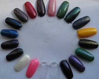 Senshi Top Coat Set Shimmer Sparkle Glass Fleck Effect Nail Lacquer Indie 15mL Starlight Polish