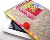 SALE, Ipad, IPad Case, IPad 3 Cover,IPad Cover, IPad 3 Case, IPad 2 Case, IPad 2 Cover, IPad Sleeve, quilted, one of a kind, linen