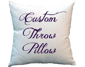 Personalized Throw Pillow Cover (insert not included)