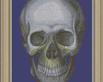 Human skull: cool anatomy cross-stitch pattern