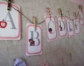 Pink Alphabet Card Set
