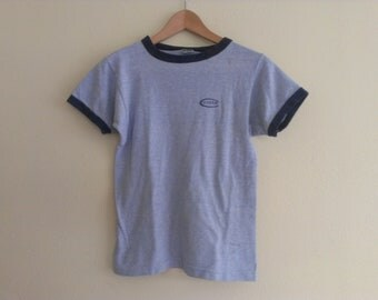 80s vintage men's small culver blue ringer some stains