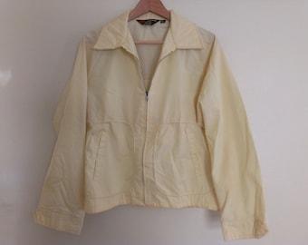 60s vintage men's medium pale yellow jacket