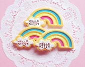 Kawaii Cute Cloud & Rainbow Cabochons 3st