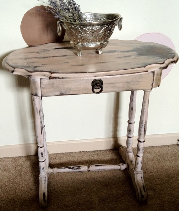 Distressed Vintage Accent Table