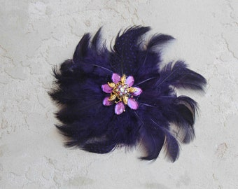 Cute  feather flower with back clip