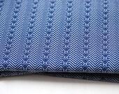 Vintage Winter Blue Weave Fabric - Amazing design