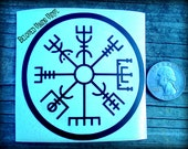 Norse Rune Compass -  Pick your size 4 - 11 inches