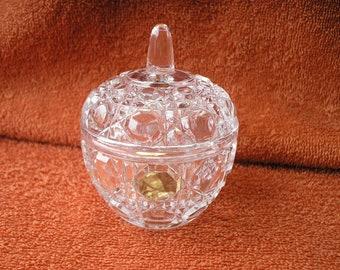 Annahutte lead crystal apple box