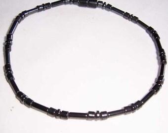 Hematite Anklet, Magnetic Hematite Ankle Bracelet 7010