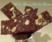 24  Gluten Free Chocolate Biscotti, with Hazelnuts, Italian cookies, Chocolate Cookies, Grain Free, Hazelnuts, Wheat Free, Gourmet Cookies