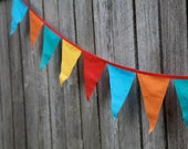 bright coloured bunting - 2.6 metres