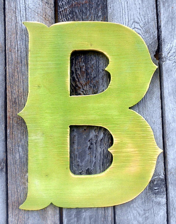 Items similar to 22 extra large western style letter b for Big wooden letter b