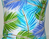 Decorative Handmade Pillow Fun Bright Island-ish Pillow Cover 18 x 18 Inches Tropical Punch