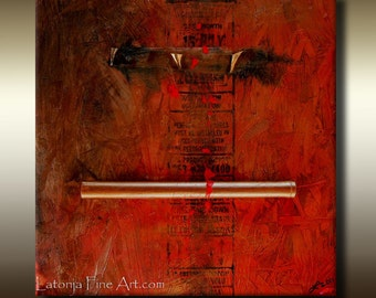 Art For Charity - Abstract Expressions Modern Art Paintings - Raising The Bar