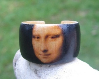 Mona Lisa (La Gioconda) Leonardo da Vinci -- adjustable wood ring