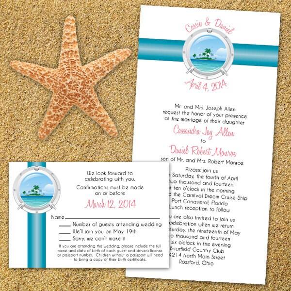Items Similar To Custom Tropical Cruise Wedding