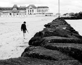 Deauville, young boy on the beach photography, 8X12 inches