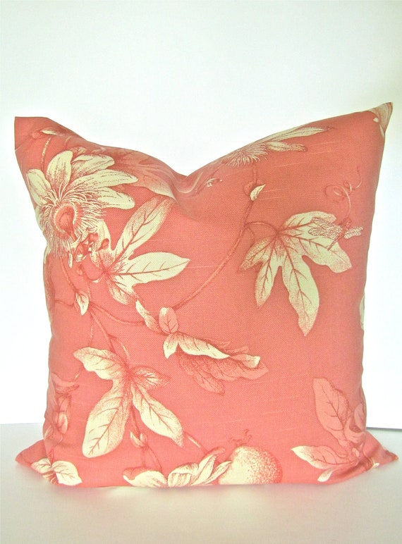 Throw Pillows Coral : Sale CORAL THROW PILLOWS 16x16 Coral by SayItWithPillows on Etsy