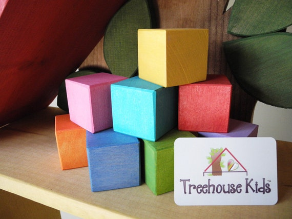 Ready to Ship, Wooden Blocks, Waldorf Blocks, Rainbow Blocks, Wood Toys