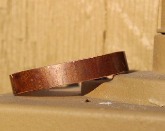 Naturally Aged Copper Cuff - Reclaimed Copper