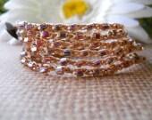 Crochet wrap, anklet, necklace, bohemian, hippie chic -SHINE ON-  wrapped, bracelet