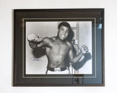 Rare Vintage Muhammad Ali Autographed Framed Photo Circa 1960 -- Collectable Photo In His Famous Career