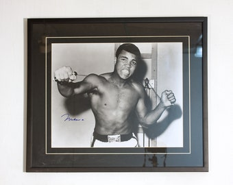 FREE SHIPPING and 20% off Muhammad Ali, Cassius Clay, Autograph, Framed Photo, Signature, Circa, 1960, Collectable,
