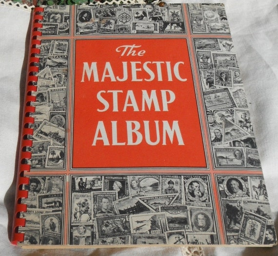 The Majestic Stamp Album 1961 Stamp Collecting Book By