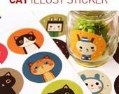 Korean Cat Sticker- 18 pieces collection CARTOON STICKER