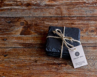 Welsh Slate coaster set square