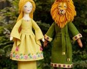 Beauty and the Beast - Set of TWO PDF ePatterns - Wool Felt Dolls