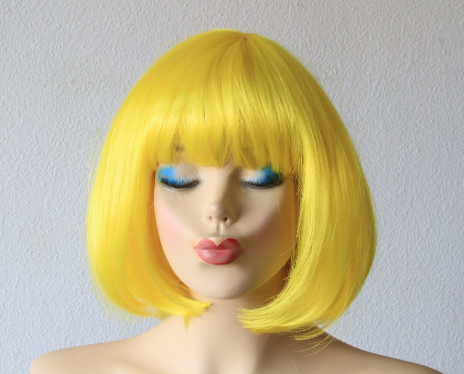 Anniversary Special Yellow Wig Bob Hair Wig By Kekeshop
