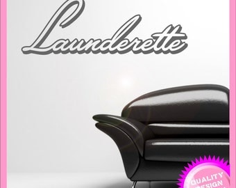 Launderette vinyl wall decal sticker