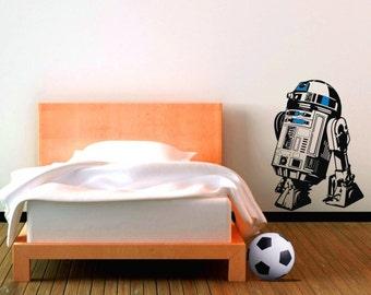 R2-D2 vinyl wall decal sticker, Medium 55cm tall