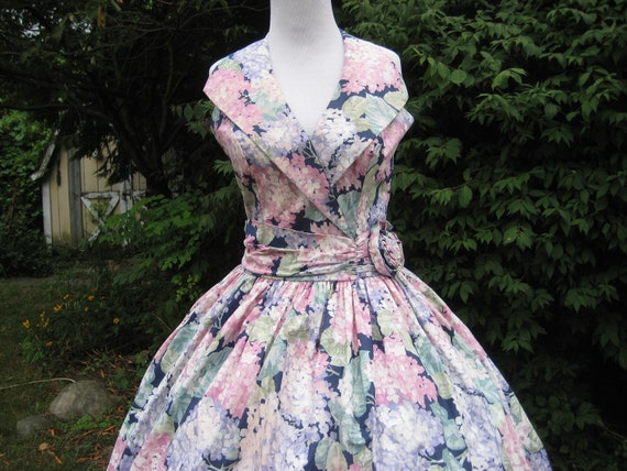 Floral Gown, Vintage Garden Party , Designer Alfred Angelo Dress Wedding Dress Made in USA