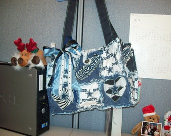 Dallas Cowboys Rag Purse/Tote Bag