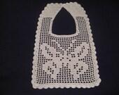 File Crochet Bib - Butterfly, Crochet Pattern PDF 12-049