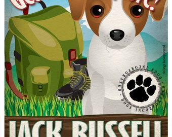 Jack Russell Wilderness Dogs Original Art Print - Personalized Dog Breed Art -11x14- Customize with Your Dog's Name - Dogs Incorporated