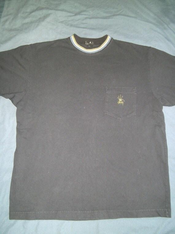 VINTAGE Stussy USA Black Shirt LARGE