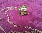 Steampunk Divers Helmet Necklace Brass
