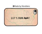 iphone case. Let's Runaway Together, Let's run away,Lovers, Relationships, Adventurers, Couples, Love, Travel, Romantic