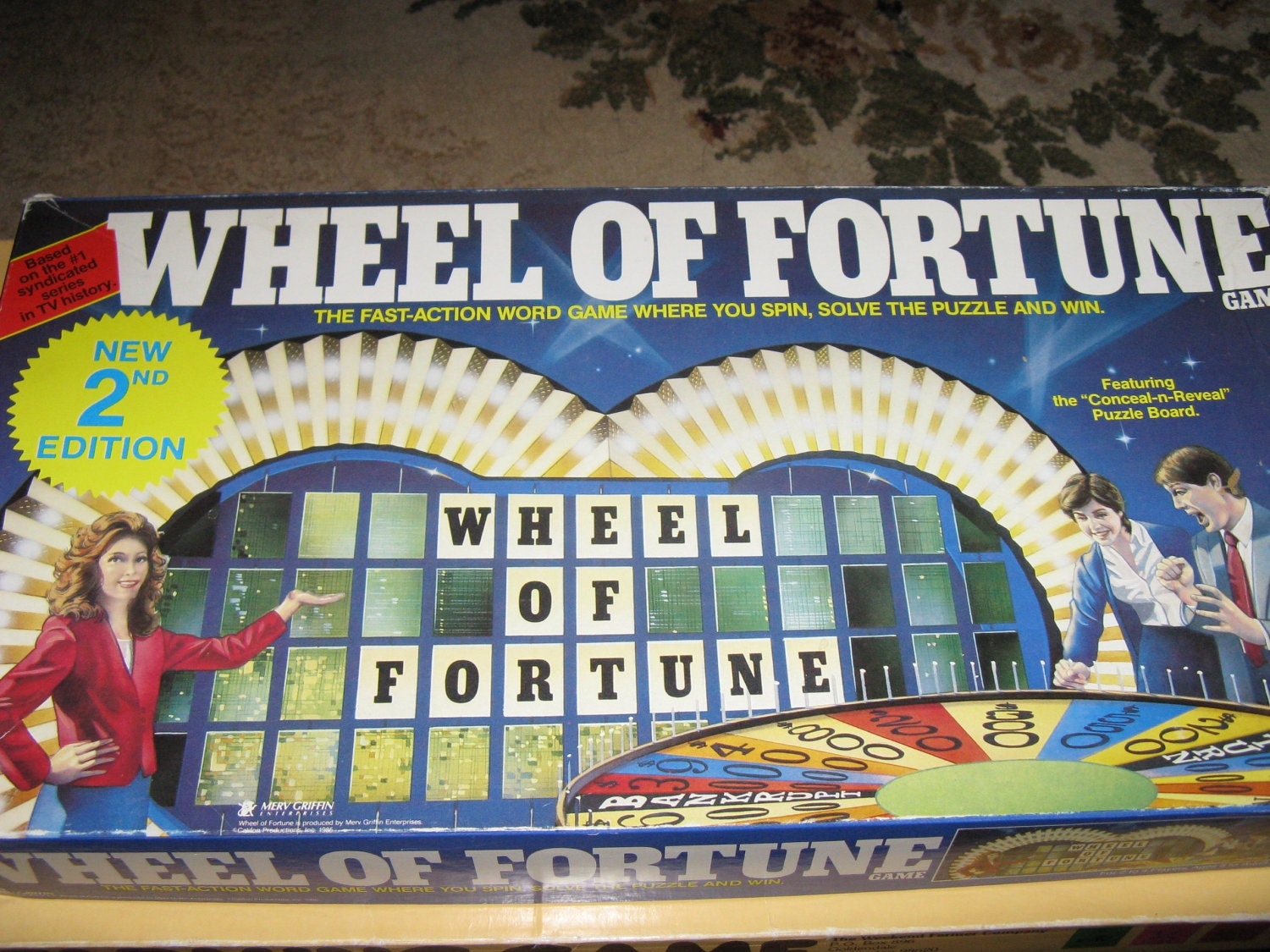 Wheel of Fortune Board Game 1985 by GrandmasTidbits on Etsy