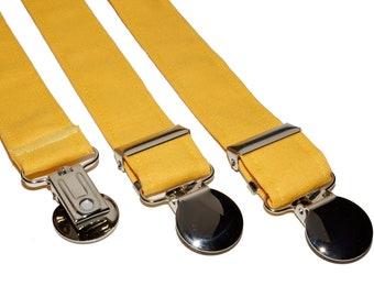 Yellow Adjustable Suspenders