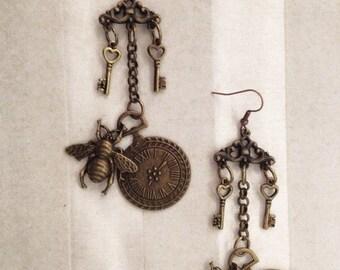 Chandeleer Earrings Melissa - Steampunk Victorian