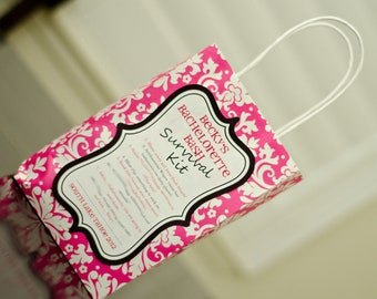 DIY Printable Bachelorette Party Survival Kit Label