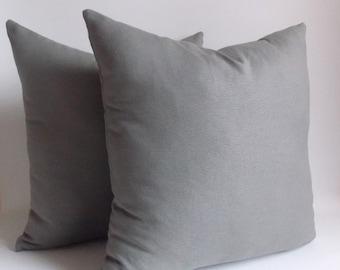 SET 2/Gray pillow cover, Gray Decorative pillow,Gray Throw pillow,Pillow cover,12,14,16,18,20,22,24,26,28,30 inches