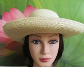 WOMAN/LADY/TEENAGER High Quality Ladies Light Golden Raffia Hat