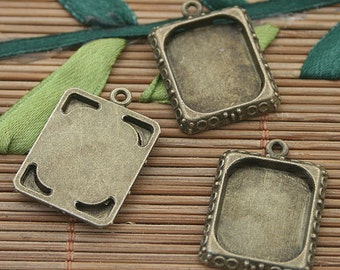 20pcs bronze rectangle picture frame h3160
